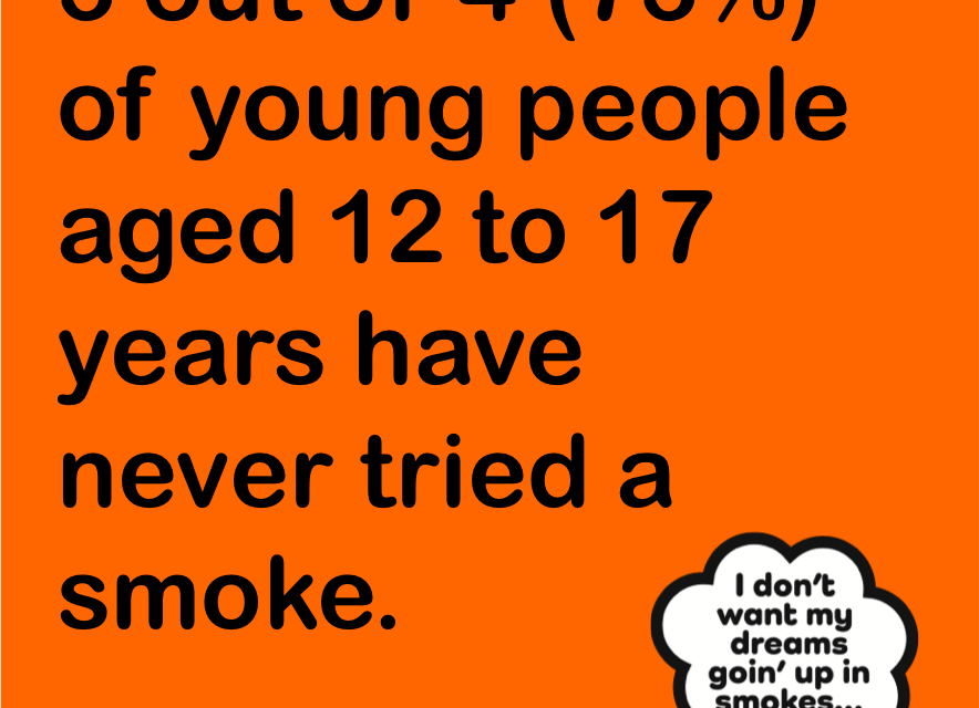 No one smokes anymore! Why smoking is SO last decade.