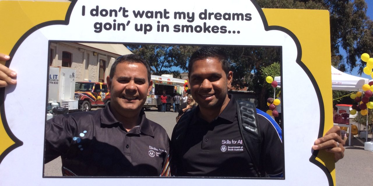 Hangin out at Tauondi Open Day